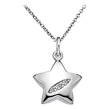 Buy Hot Diamonds Shooting Star Pendant Necklace, Silver Online at johnlewis.com