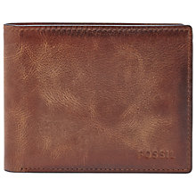 Buy Fossil Derrick Flip ID Bifold, Brown Online at johnlewis.com