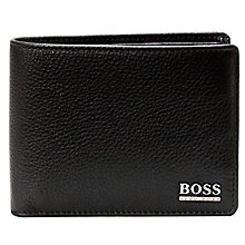 Buy BOSS Monome Leather Wallet, Black Online at johnlewis.com