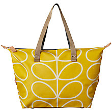 Buy Orla Kiely Matte Laminated Stem Shopper Bag, Yellow Online at johnlewis.com