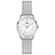 Buy Henry London HL25-M-0013  Women's Edgware Bracelet Strap Watch, Silver/White Online at johnlewis.com