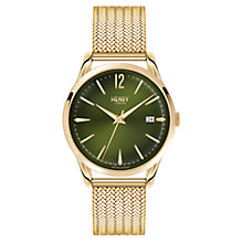 Buy Henry London HL39-M-0102 Unisex Chiswick Date Bracelet Strap Watch, Gold/Dark Green Online at johnlewis.com