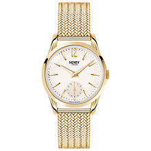 Buy Henry London HL30-UM-0004 Women's Westminster Bracelet Strap Watch, Gold/Cream Online at johnlewis.com