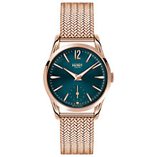 Buy Henry London HL30-UM-0130 Women's Stratford Bracelet Strap Watch, Rose Gold/Teal Online at johnlewis.com