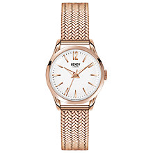 Buy Henry London HL25-M-0022 Women's Richmond Bracelet Strap Watch, Rose Gold/White Online at johnlewis.com