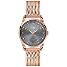 Buy Henry London HL30-UM-0116 Women's Finchley Bracelet Strap Watch, Rose Gold/Grey Online at johnlewis.com