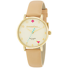 Buy kate spade new york Women's 5 O'Clock Somewhere Metro Leather Strap Watch Online at johnlewis.com