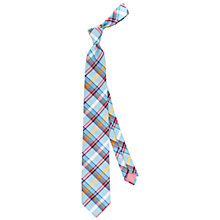 Buy Thomas Pink Hayes Check Woven Silk Tie Online at johnlewis.com