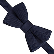 Buy Thomas Pink Knitted Self Tie Bow Tie, Navy Online at johnlewis.com