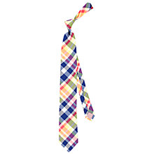 Buy Thomas Pink Jeal Check Woven Silk Tie, Navy/Yellow Online at johnlewis.com
