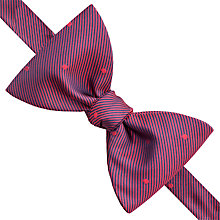 Buy Thomas Pink Reynard Spot Silk Self Tie Bow Tie, Red/Navy Online at johnlewis.com