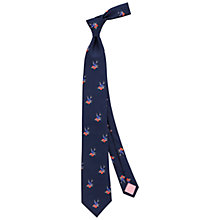 Buy Thomas Pink Layton Heart Print Silk Tie Online at johnlewis.com