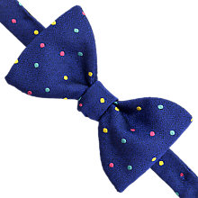 Buy Thomas Pink Wentworth Spot Self Tie Silk Bow Tie, Royal/Pink Online at johnlewis.com