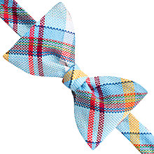 Buy Thomas Pink Hayes Check Self Tie Bow Tie, Blue/Yellow Online at johnlewis.com