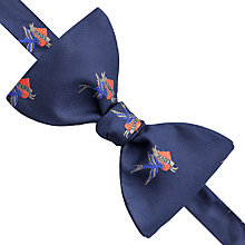 Buy Thomas Pink Layton Heart Print Self Tie Bow Tie, Navy/Red Online at johnlewis.com