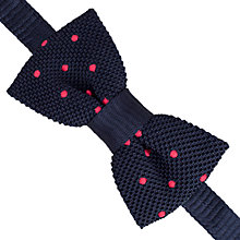 Buy Thomas Pink Spot Knit Self Tie Bow Tie, Navy/Pink Online at johnlewis.com