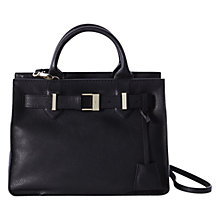 Buy Karen Millen Leather Buckle Tote Bag, Black Online at johnlewis.com