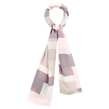Buy Viyella Colour Block Scarf, Pink Online at johnlewis.com