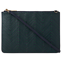 Buy Whistles Rivington Woven Leather Chain Clutch Bag Online at johnlewis.com