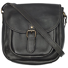 Buy Fat Face Annie Le Saddle Bag, Black Online at johnlewis.com