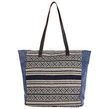 Buy Fat Face Tia Shopper Bag, Blue/Multi Online at johnlewis.com