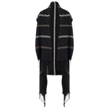 Buy Miss Selfridge Sleeveless Striped Cape, Black Online at johnlewis.com