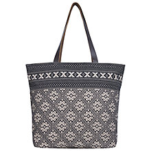 Buy Fat Face Olivia Shopper Bag, Black/Multi Online at johnlewis.com