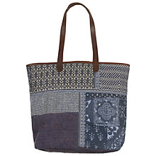 Buy Fat Face Jenny Patchwork Shopper Bag, Blue/Multi Online at johnlewis.com