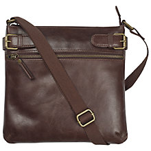 Buy Fat Face Alice Buckle Leather Cross Body Handbag Online at johnlewis.com
