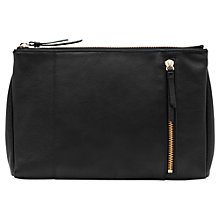 Buy Reiss Russo Oversized Clutch Bag, Black Online at johnlewis.com