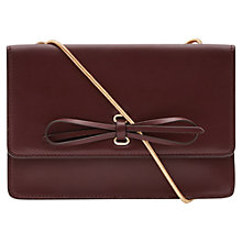 Buy Reiss Farah Leather Bow Front Bag Online at johnlewis.com