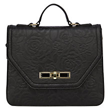 Buy Coast Rosie Textured Shoulder Bag, Black Online at johnlewis.com
