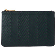 Buy Whistles Woven Leather Small Clutch Online at johnlewis.com