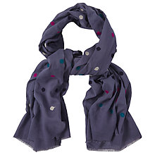 Buy White Stuff Fluffy Spot Scarf, Multi Online at johnlewis.com