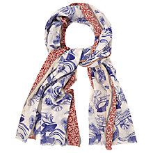 Buy White Stuff Swimming Koi Scarf, Bejing Blue Online at johnlewis.com