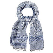 Buy White Stuff Temple Patched Jacquard Scarf, Blue Online at johnlewis.com