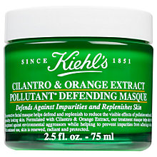 Buy Kiehl's Cilantro & Orange Extract Pollutant Defending Masque, 75ml Online at johnlewis.com