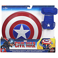 Buy Marvel Captain America Civil War Magnetic Shield & Gauntlet Online at johnlewis.com