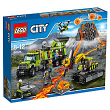 Buy LEGO City 60124 Volcano Exploration Base Online at johnlewis.com