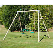 Buy TP Toys RoundWood Double Swing Set Online at johnlewis.com