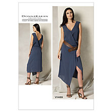 Buy Vogue Women's Dress Sewing Pattern, 1489 Online at johnlewis.com