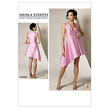 Buy Vogue Women's Dress Sewing Pattern, 1490 Online at johnlewis.com