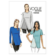 Buy Vogue Women's Tops Sewing Pattern, 9169 Online at johnlewis.com