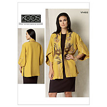 Buy Vogue Women's Jacket Sewing Pattern, 1493 Online at johnlewis.com