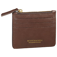 Buy Scotch & Soda Leather Card Holder, Brown Online at johnlewis.com
