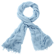 Buy Pure Collection Baden Ultra Fine Cashmere Scarf, Spring Blue Online at johnlewis.com