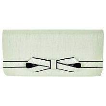 Buy Jacques Vert Piped Bow Clutch Bag, Mint Online at johnlewis.com