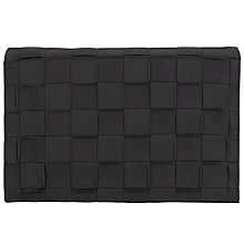 Buy John Lewis Isla Large Weave Clutch Bag, Black Online at johnlewis.com