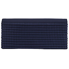 Buy John Lewis Erin Textured Pleat Clutch Bag, Navy Online at johnlewis.com