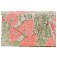Buy John Lewis Fiona Floral Satin Envelope Clutch, Multi Online at johnlewis.com